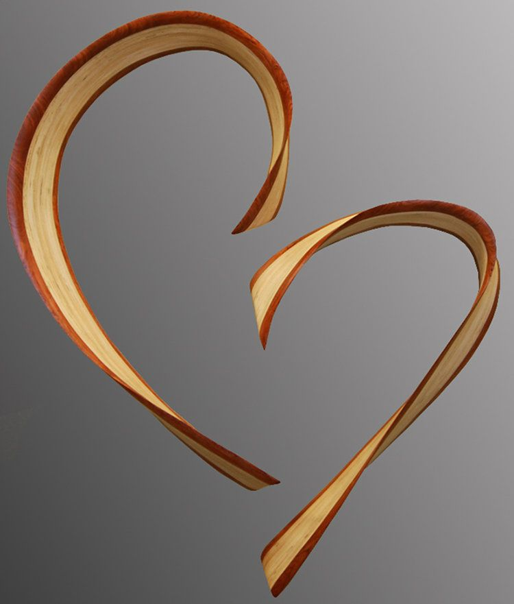 Chatham heart by kerry vesper wood wall sculpture wall