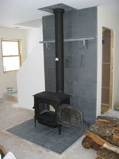 Building Lincoln Bedrooms Ii Wood Fire Tile And Paint Wood Stove Wood Stove Wall Wood Stove Surround
