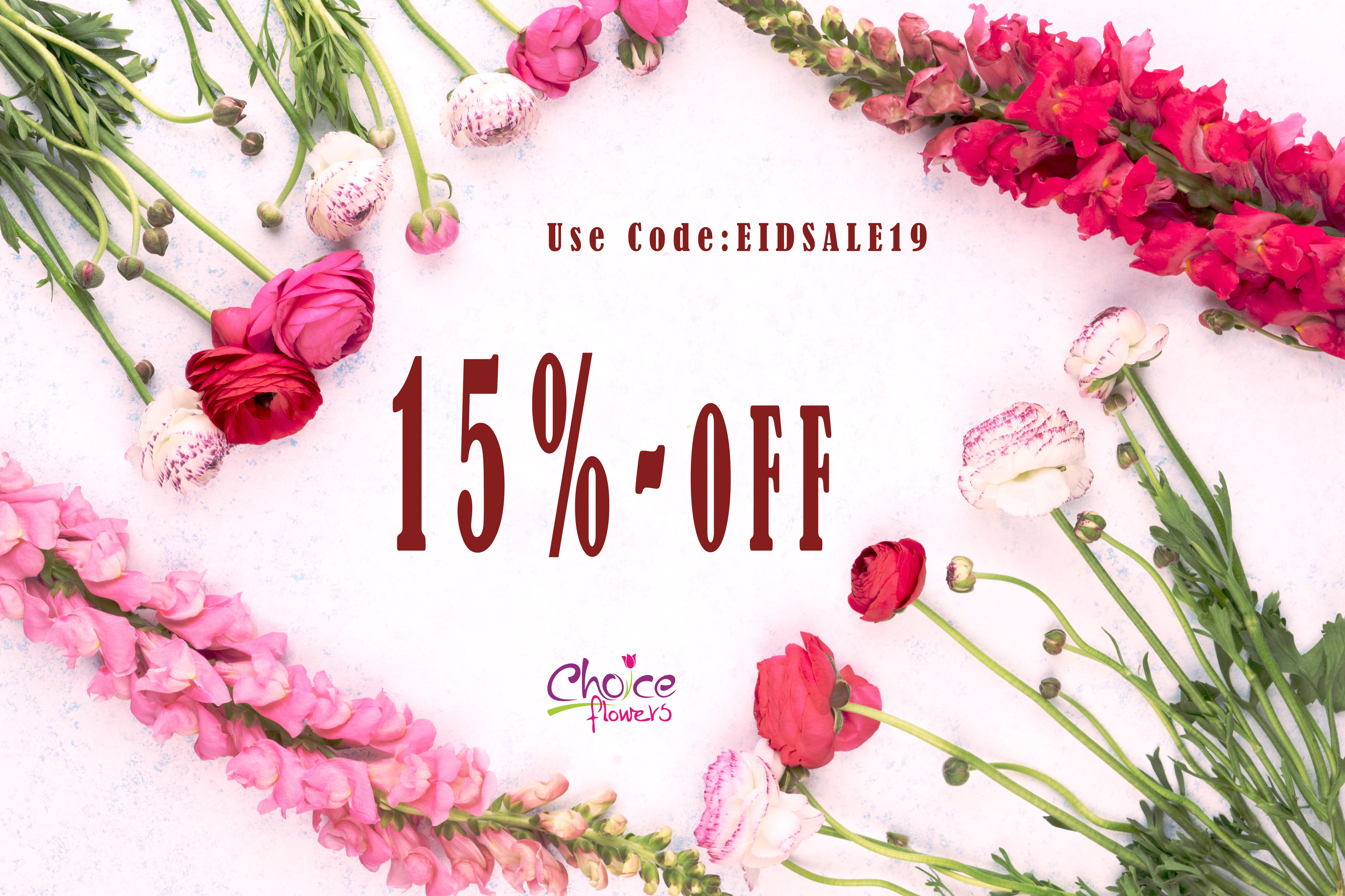 Order Your Flowers And Gifts For EID AL ADHA & Get 15