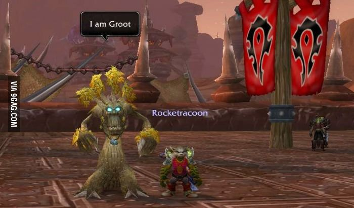 Groot and Rocket. WoW