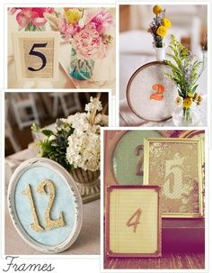 Table Numbers Wedding Decoration