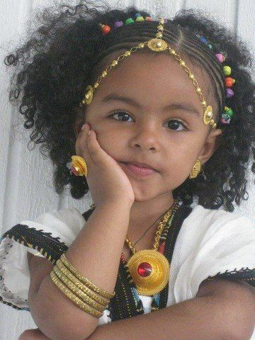 Beautiful little girl of the Amhara Region, in the central highlands of…