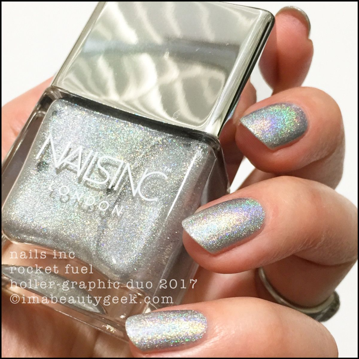 Nails inc gel nail colors and gel nail polish on pinterest - It S The Nails Inc Holler Graphic Duo Ghetto Galactic Rocket Fuel Am I Glad I Made The Lovely Sephora Associate Disappear Into The Stockroom For Almost