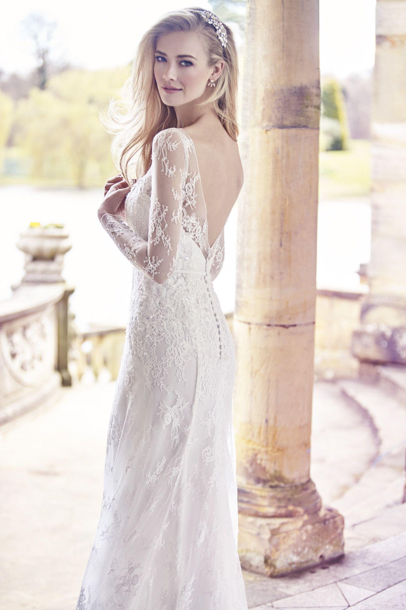 Wedding dress lace sleeves  Ellis Bridals weddingdresses bridal lace sleeves  The Sleeved