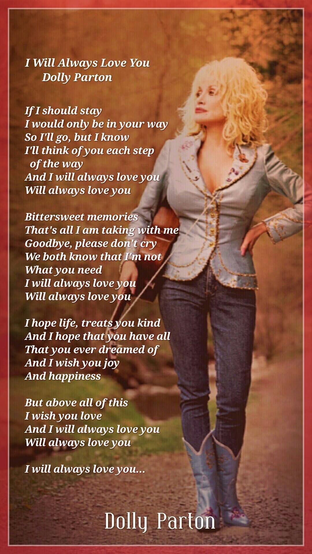 """Image result for Dolly Parton's """"I will Always Love You"""""""