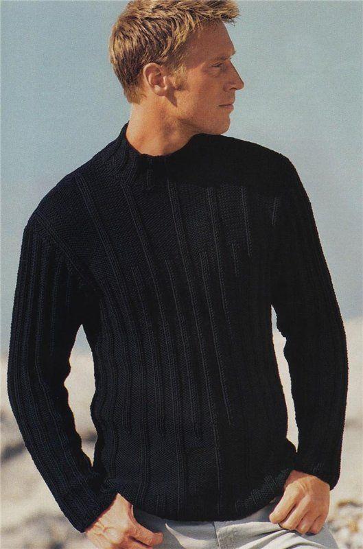 вязаные пуловеры мужские спицами со схемами
