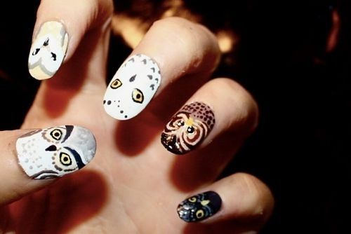 Pin By Jody Fialkowski On Nails Pinterest Owl Nail Designs And