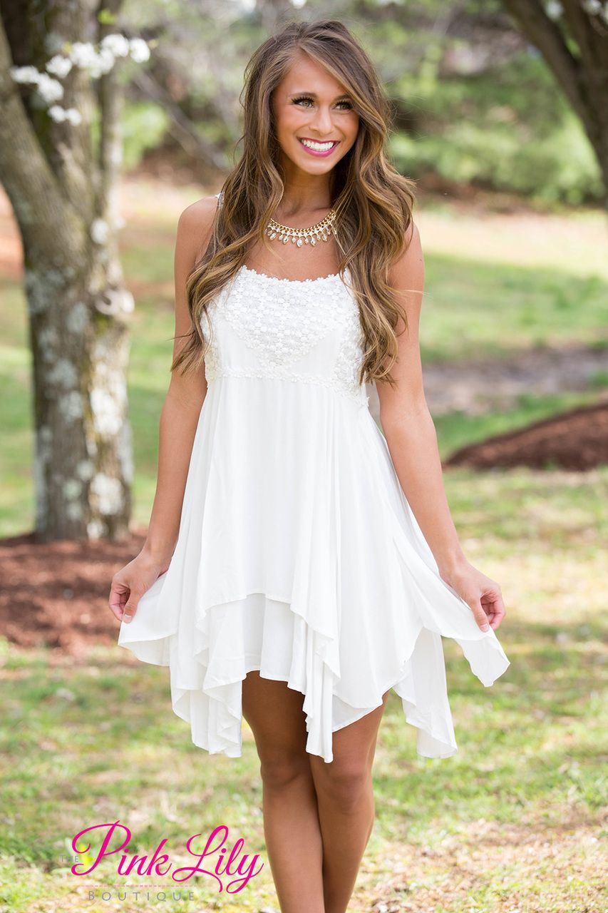 Spring Fairy White Dress Cute Country Dresses Country Dresses White Dress