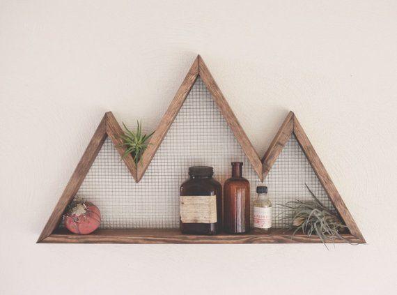 Mountain Wall Art, Shelf, Mountain Home Decor, wall hanging, wall