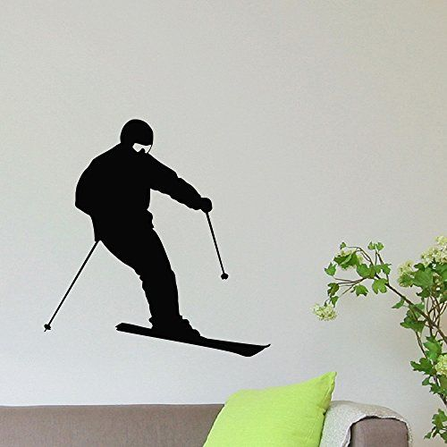 Wall Decal Vinyl Sticker Sport Gym Skier Skiing Decor Sb638 ElegantWallDecals http://www.amazon.com/dp/B012DRNV94/ref=cm_sw_r_pi_dp_SbkYvb1XW132B