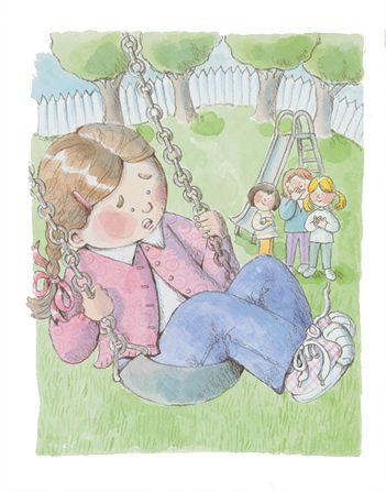 girl-swinging-friends-watching-739353