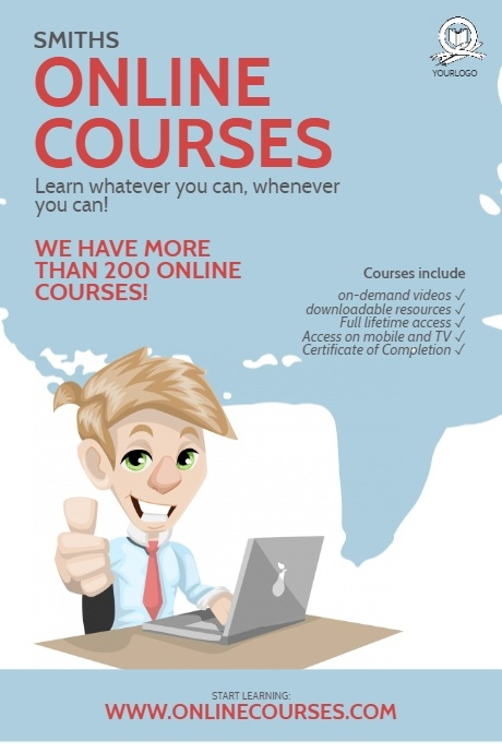 Online Courses flyer Design Template PosterMyWall in