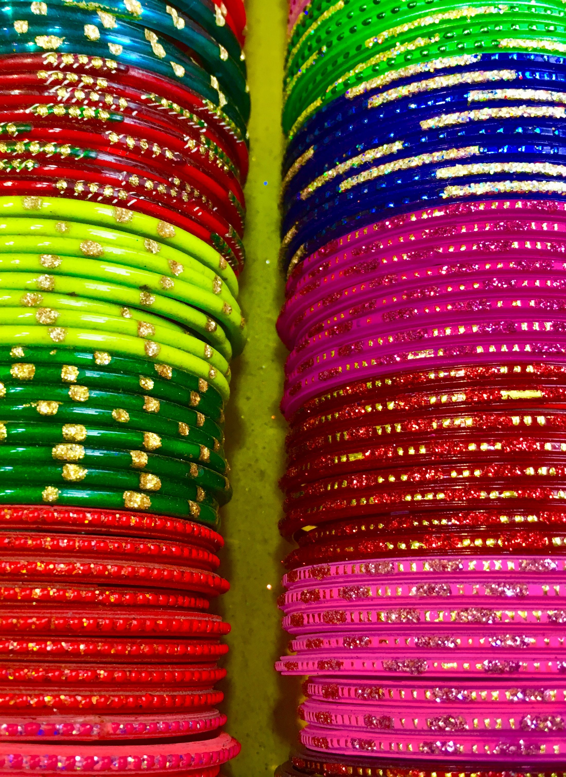 Colourful bangles in agra market great souvenirs from a