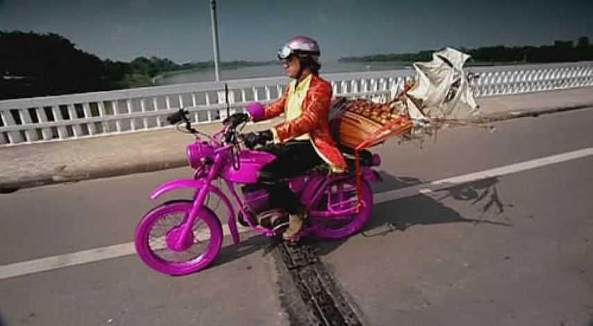 A Motorbike Trip Across Vietnam Involving Ridiculous Suits Pink