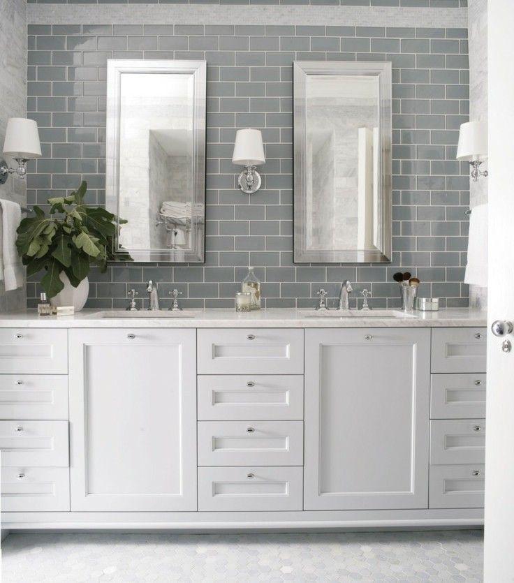 Azulejos grises para suelos y paredes - 50 modelos | Cocinas con ...