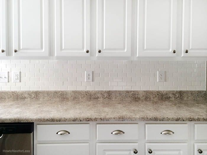 How To Install A Kitchen Backsplash The Best And Easiest Tutorial White Subway Tiles Kitchen Backsplash White Subway Tile Kitchen Kitchen Backsplash Designs