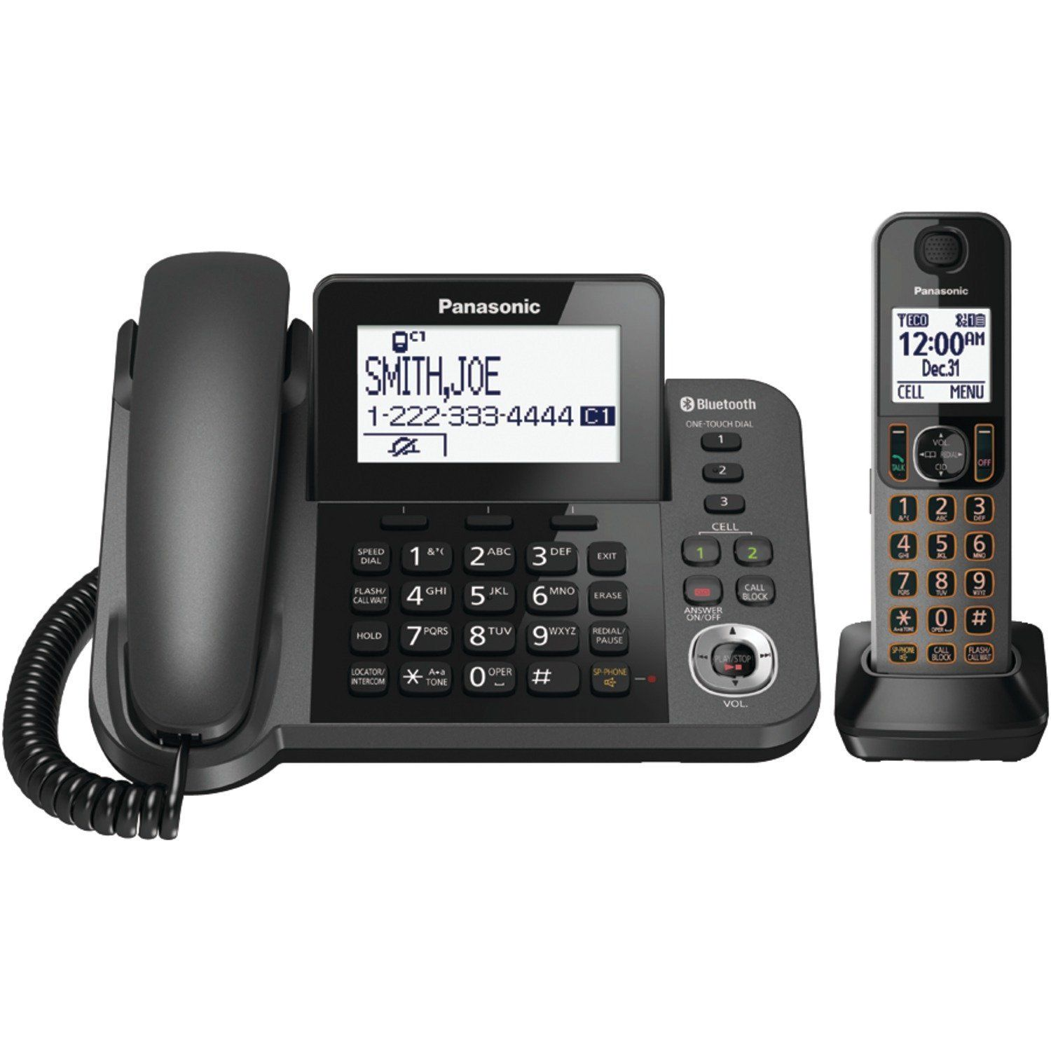 Panasonic kx tgf380m dect 60 1 handset bluetooth landline panasonic kx tgf380m dect 60 1 handset bluetooth landline telephone with corded base unit sciox Images