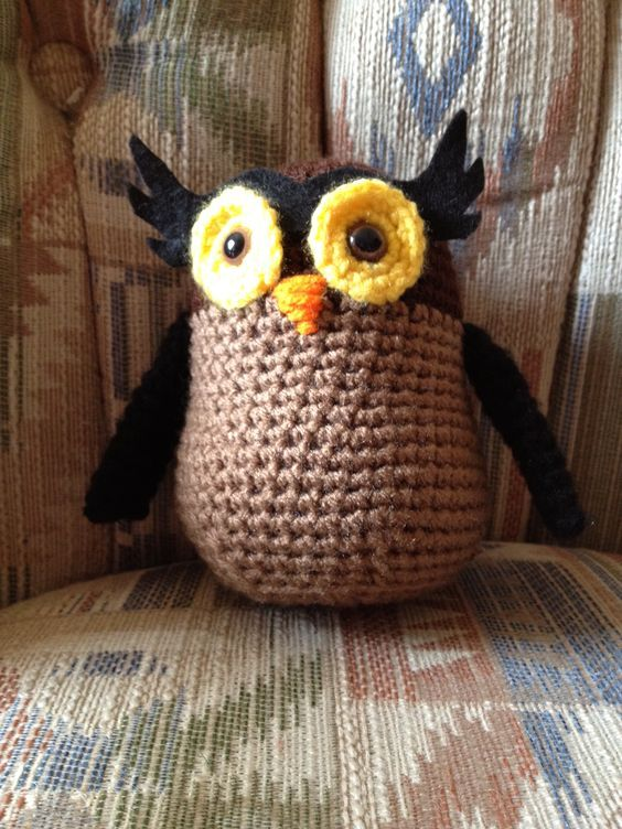crocheted owl Free patern by Robotrish | Amigurumi | Pinterest ...