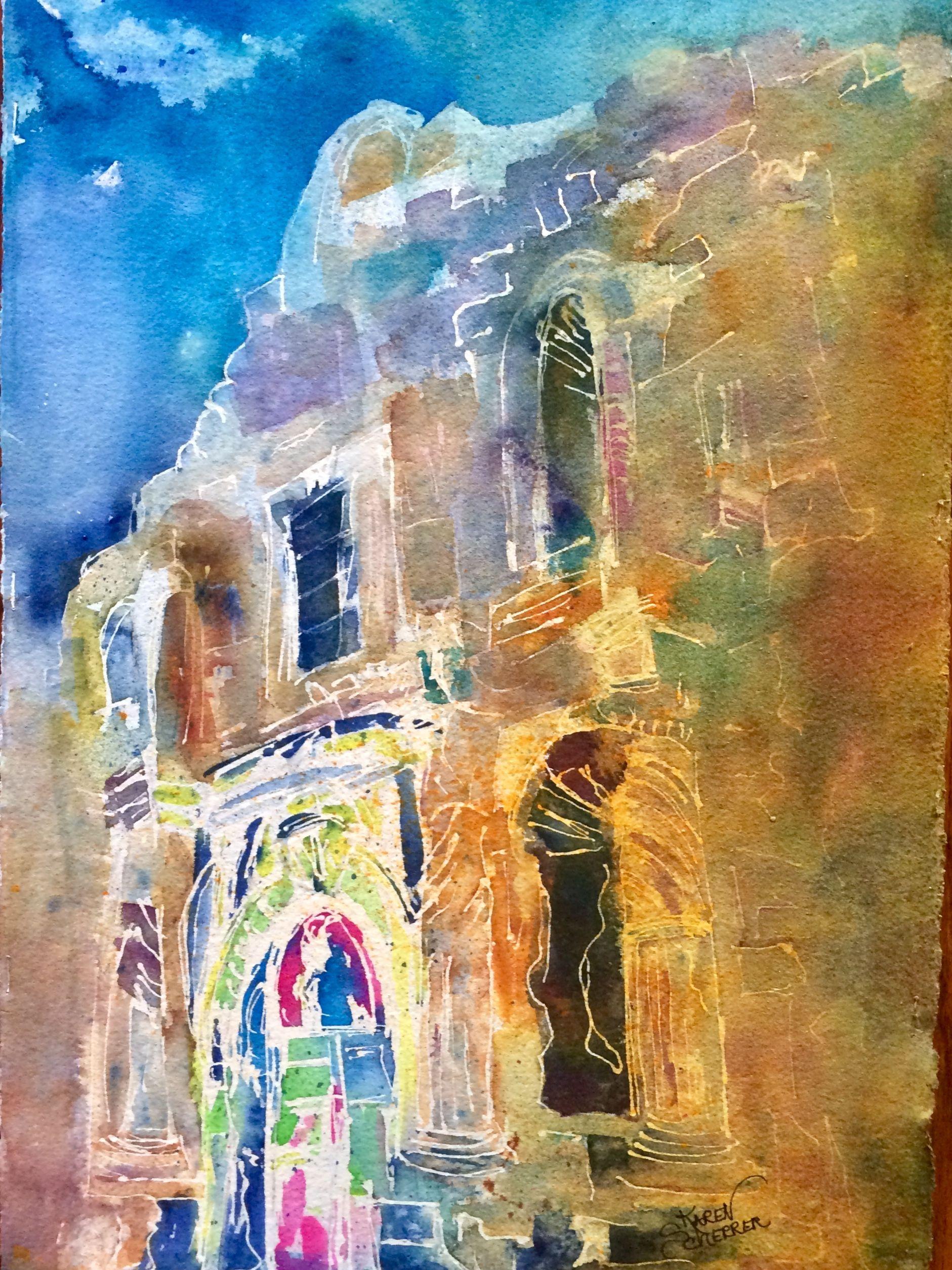 The Alamo A Watercolor By Texas Artist Karen Scherrer