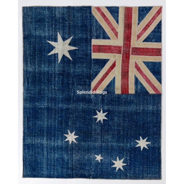 Australian Flag Design Patchwork Rug