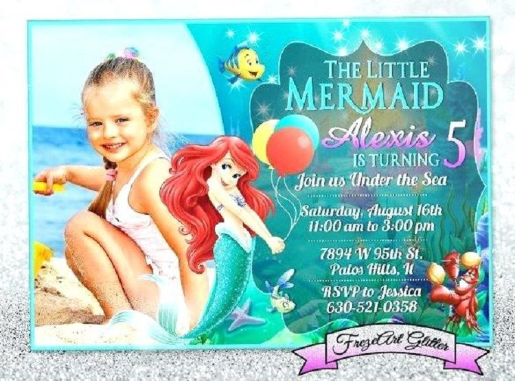 Personalized Little Mermaid Birthday Invitations