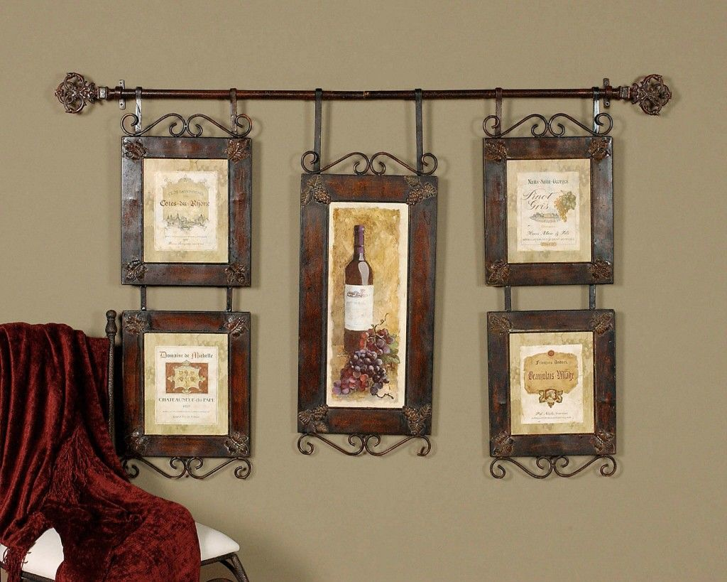 LARGE WINE collage FRENCH COUNTRY TUSCAN Wall Decor Tuscan wall
