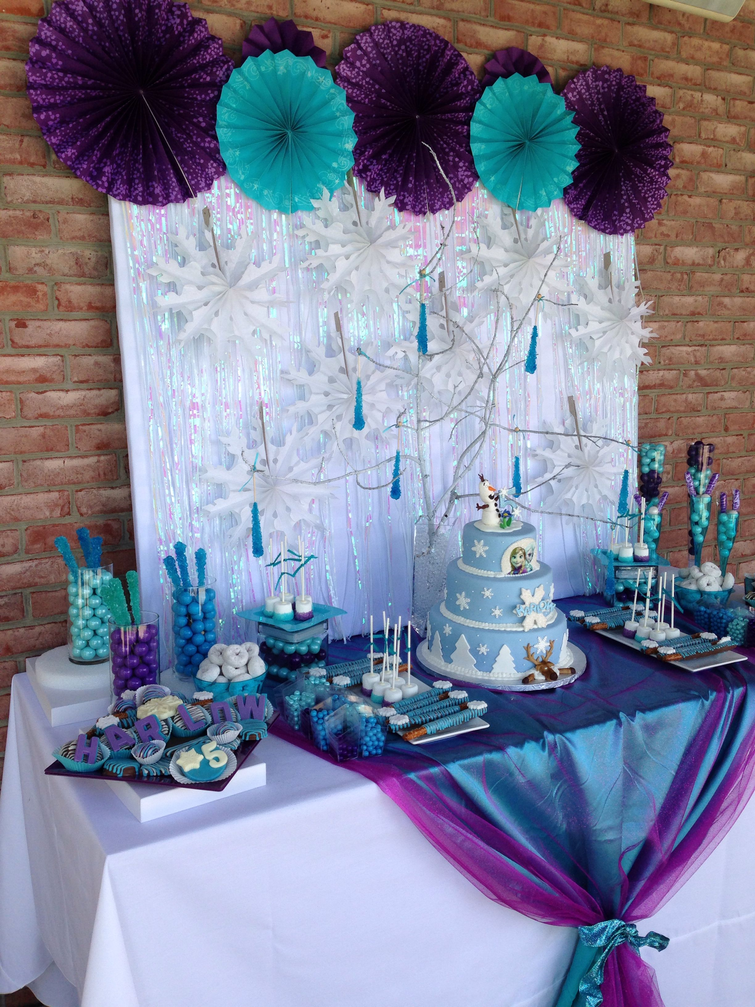 Decoration Olaf Anniversaire Createdtoparty Frozen Candy Buffet Created To Party