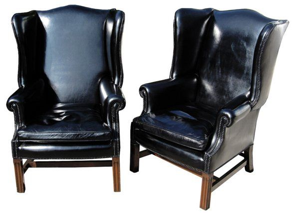 Black Patent Leather Chairs Leather Wingback Chair Wingback