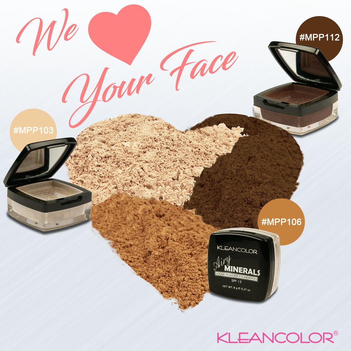 KleanColor loves your face and so does our Airy Minerals
