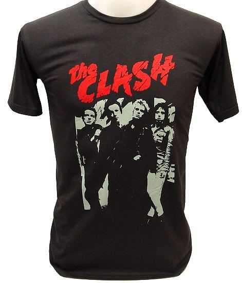 bb6d142db THE CLASH 80s UK Concert Vintage Punk Rock T-Shirt M