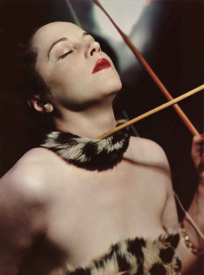 Lady Milbanke as Penthelisa, Queen of the Amazons by Madame Yevonde, 1935. Lord Milbanke was the Australian-born beauty's second husband; her third would by Prince Dmitri Romanov, famous for his involvement in Rasputin's assassination and as one of  Coco Chanel's lovers.