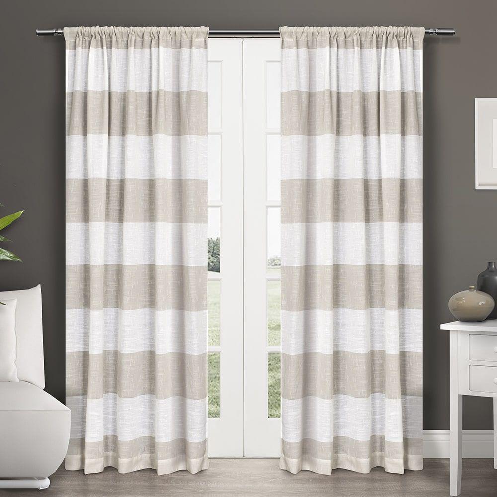 Ati Home Darma Semi Sheer Rod Pocket Window Curtain 84 108 Inch Length Panel
