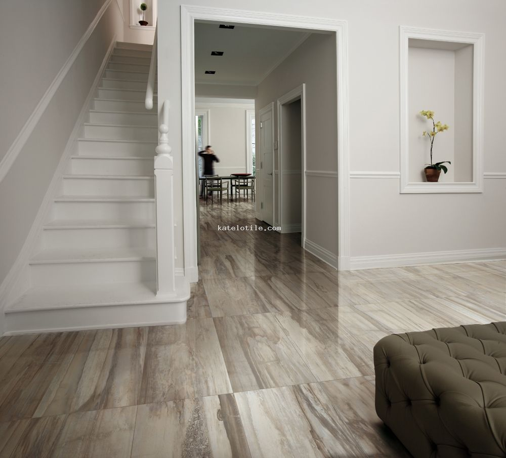 Kauri - Grey | Porcelain floor tile inspired by the look of petrified wood. - Kauri - Grey Porcelain Floor Tile Inspired By The Look Of