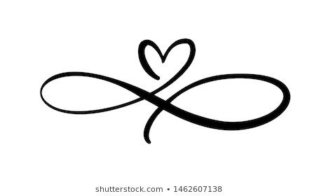 Similar Images Stock Photos Vectors Of Heart Love Sign Forever Logo Infinity Romantic S In 2020 Infinity Tattoo Designs Heart With Infinity Tattoo Infinity Tattoos