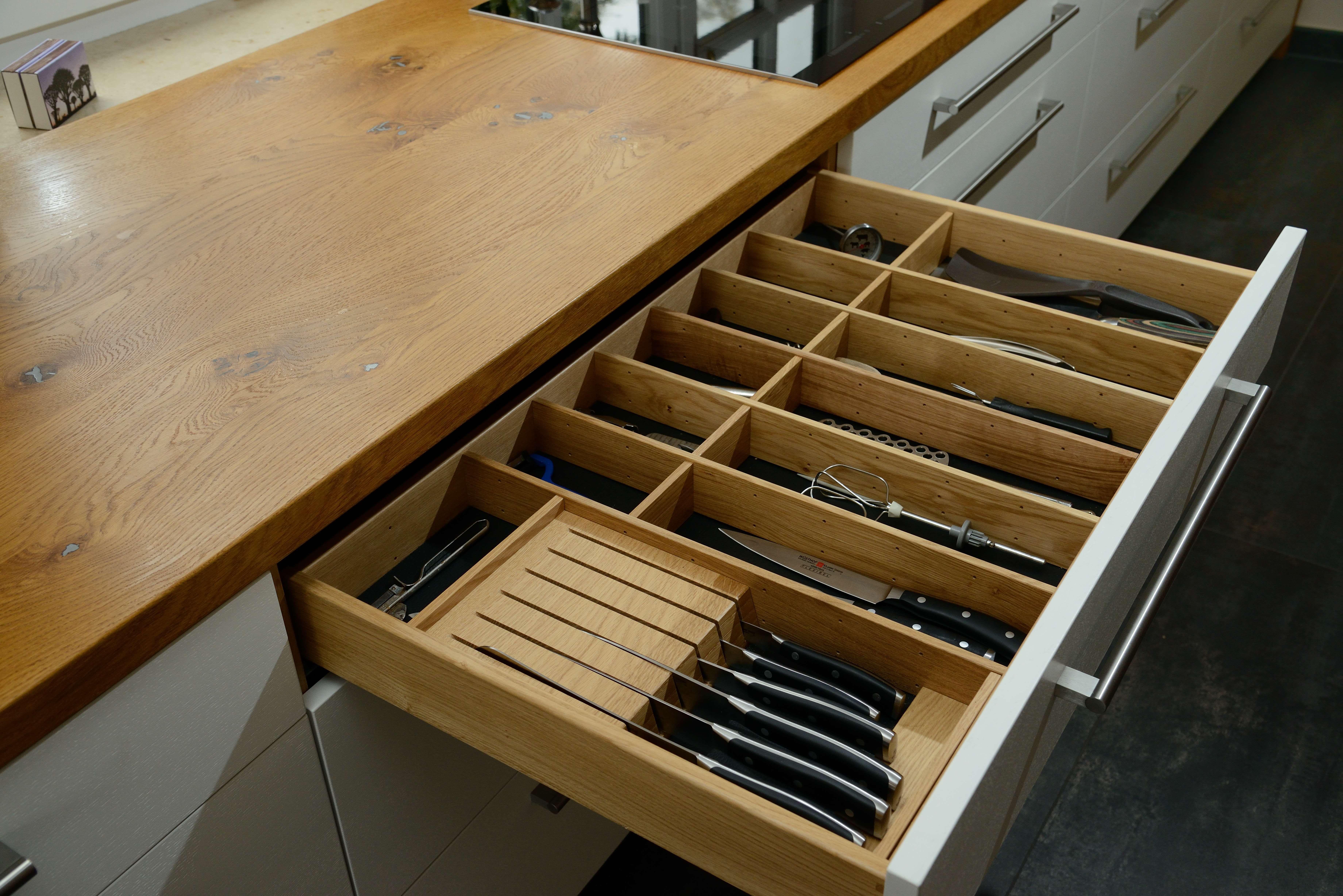 besteckschublade aus holz k che hausideen pinterest. Black Bedroom Furniture Sets. Home Design Ideas