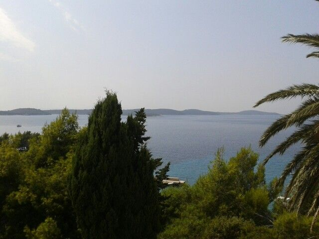 View from our huge veranda in Hvar
