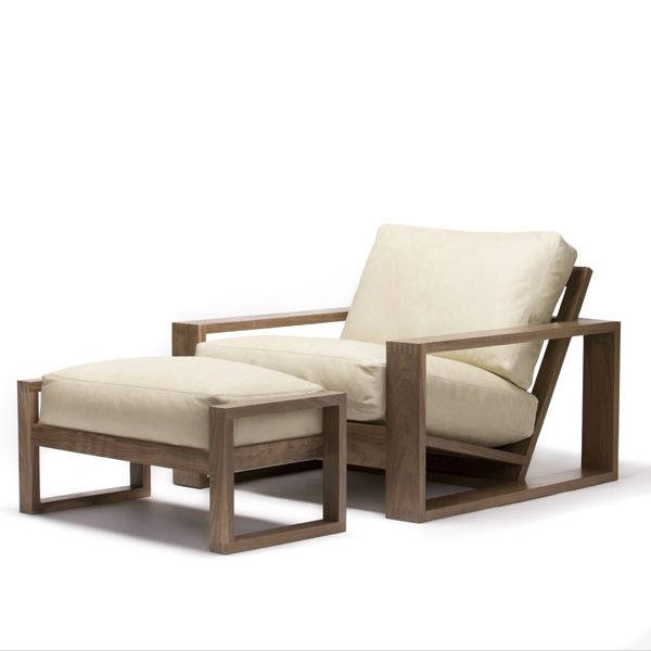 Air chair and Air Ottoman with solid timber frame and finger joins ...