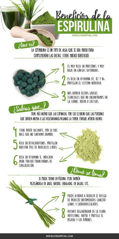 Beneficios De La Espirulina Gym Virtual Tipos De Algas Espirulina Beneficios De Alimentos
