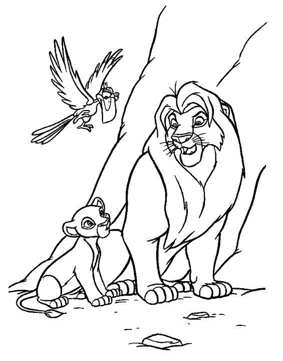 roi lion dessins colorier - Le Roi Lion Coloriage