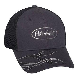 Peterbilt Hats - Peterbilt Caps - Peterbilt Merchandise - Peterbilt Motors  Cap-Liquid Metal Gray Caps c99c29897df