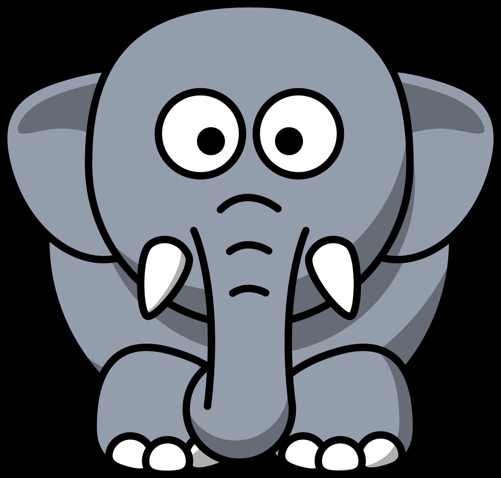 10 Mewarnai Gambar Gajah Cartoon elephant, Elephant clip