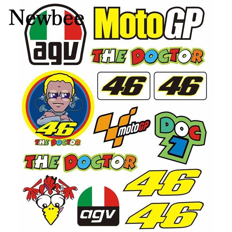 Newbee Agv Rossi Motorrad Aufkleber 46 Vr46 Der Arzt Helm