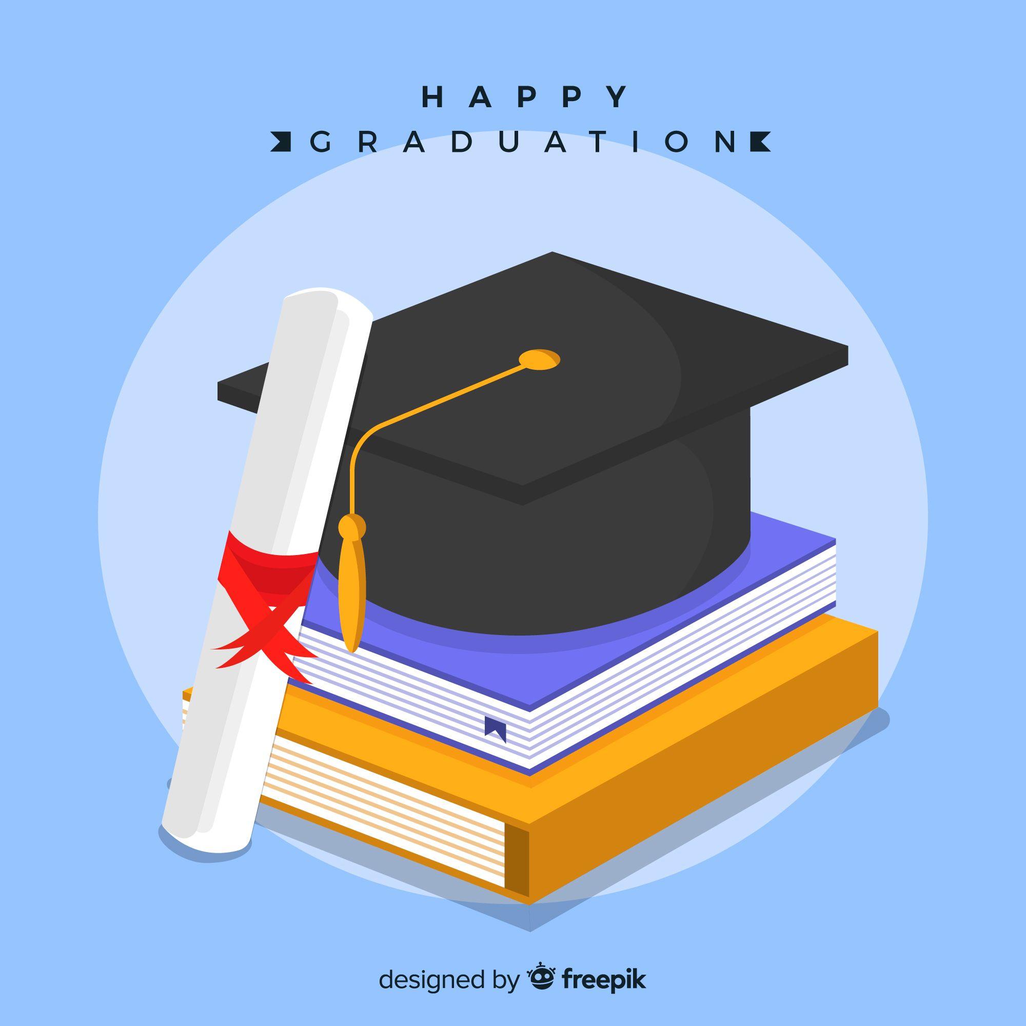 graduation cap with diploma   happy graduation background Birrete De  Graduación f75105f20ed