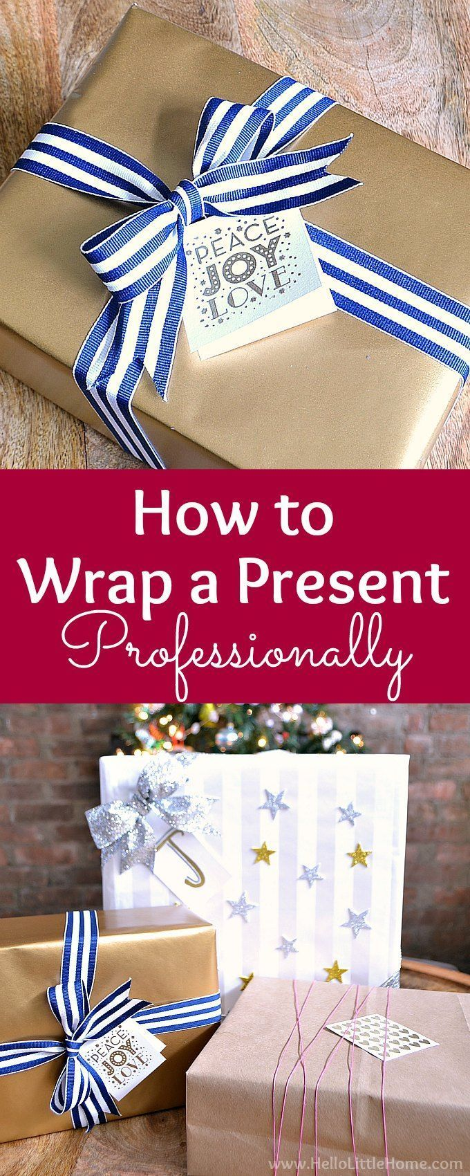 How to Wrap a Present Professionally Wrap gifts like a pro with this easy tutorial that shows you how to wrap a present perfectly step by step These easy gift wrapping ti...