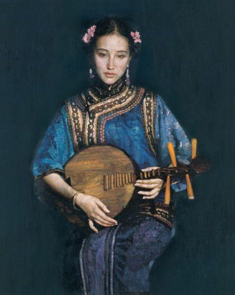 chen yifei paintings | Chen Yifei,china artist,oil painting,people oil painting,china art