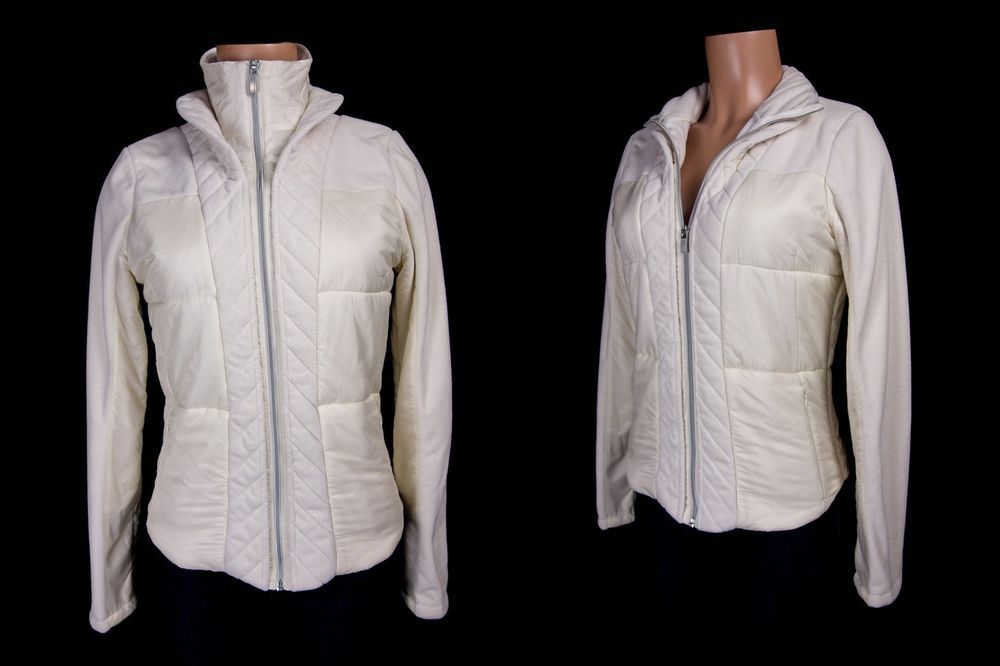bae2b25d8ecdf LULULEMON St Moritz Jacket 8 M Polar Cream Quilted Fleece Ski Winter Sport  Coat  Lululemon  ActivewearCoat
