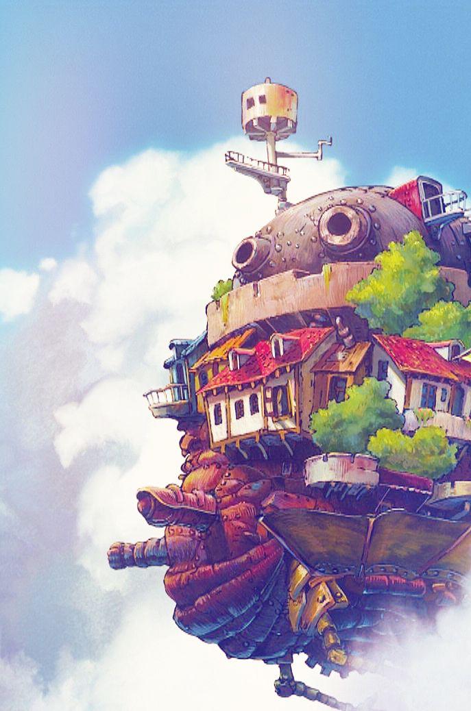 Studio Ghibli Howls Moving Castle Phone Backgrounds ...
