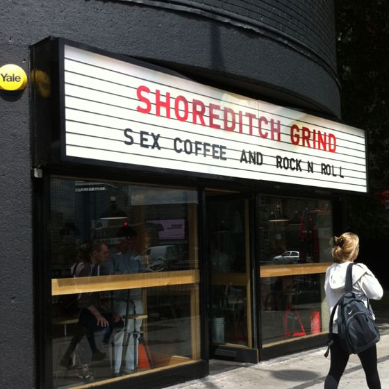 Shoreditch Grind, a coffee shop near Old Street, London. Read our review here: