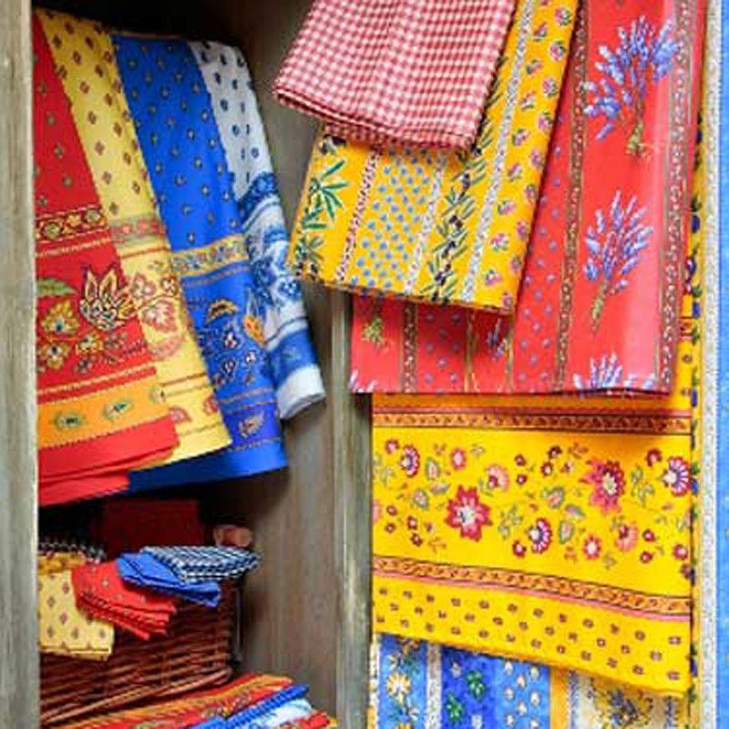 Colorful French Linen Table Cloths Inspired By The Traditions And Design Of  Provence And The French