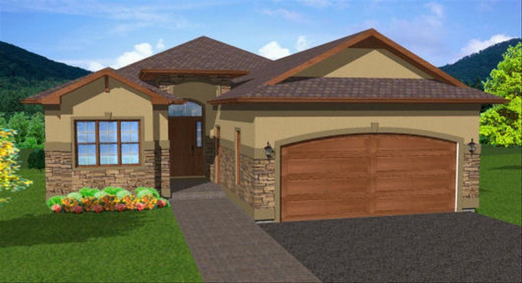 This popular compact house plan features an open living area withvaulted ceilings a Master Bedroom with en suite and walk-in closet aswell as two more bedrooms and a bathroom all on the main floor. Thishome plan also features a large sundeck a full basement and a two cargarage.